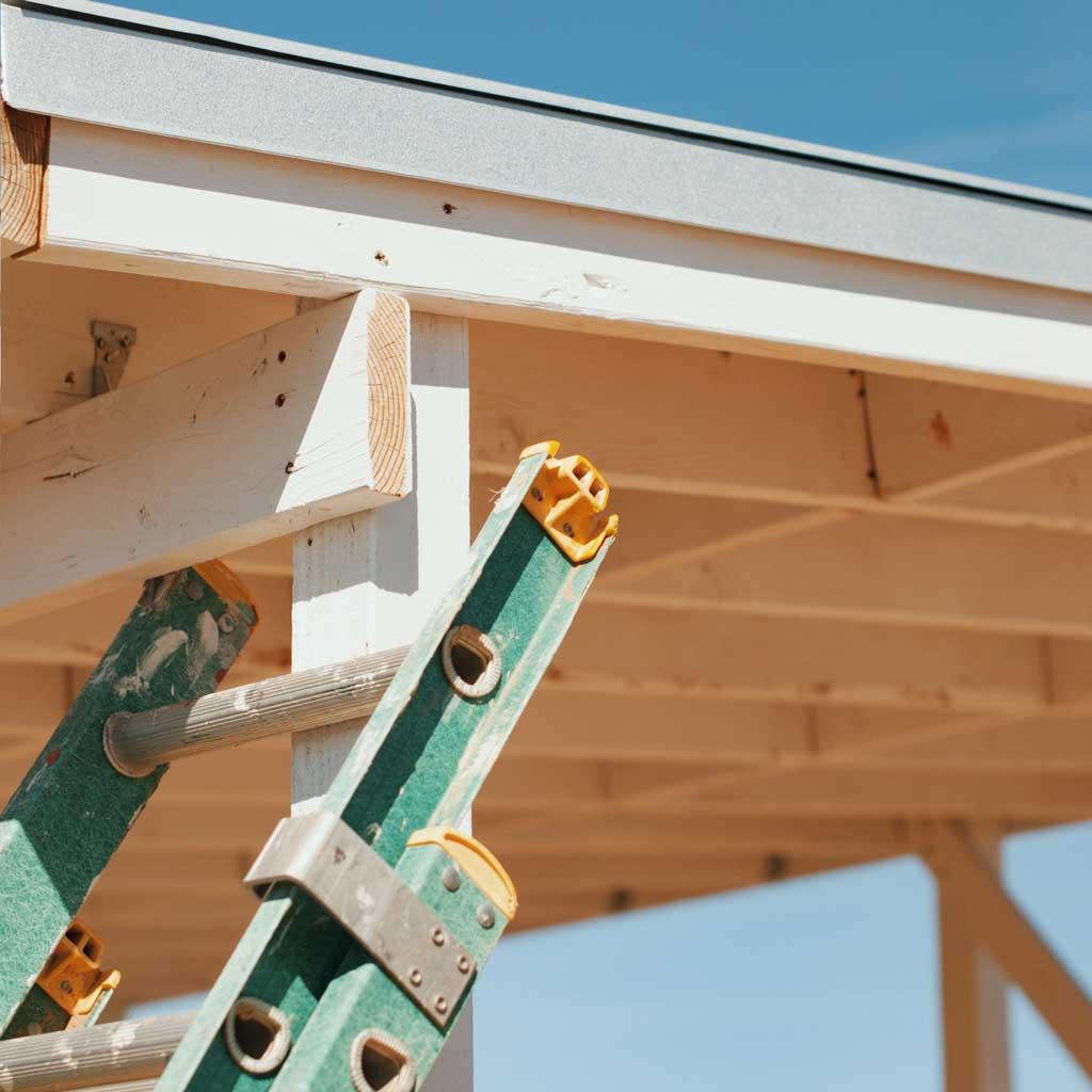 ladder-against-building
